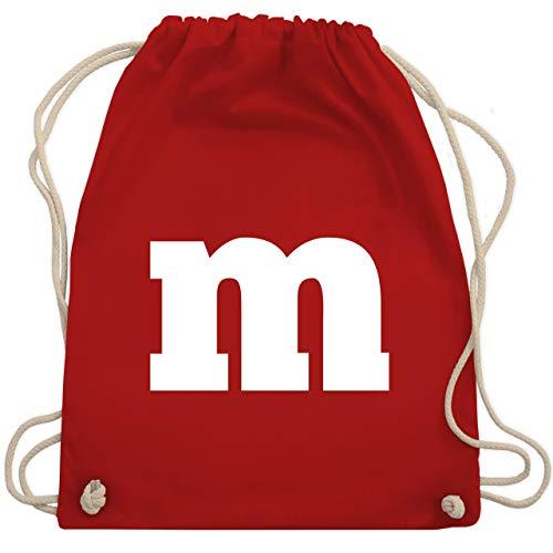 Karneval & Fasching - Gruppen-Kostüm m Aufdruck - Unisize - Rot - WM110 - Turnbeutel & Gym Bag