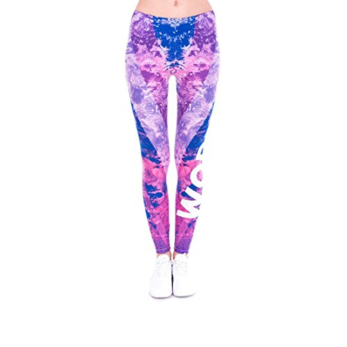 Kukubird Printed Patterns Women's Yoga Leggings Gym Fitness Running Pilates Tights Skinny Pants Size 6-10 Stretchable-Workout Marble Stripes Blue