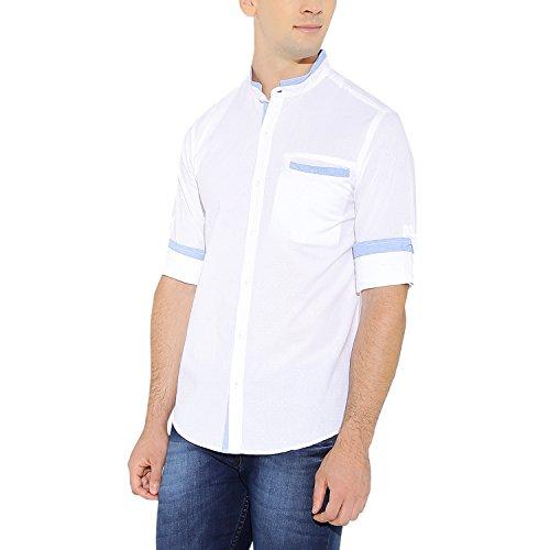 nick&jess Herren Blusen Freizeit-Hemd weiß weiß Weiß