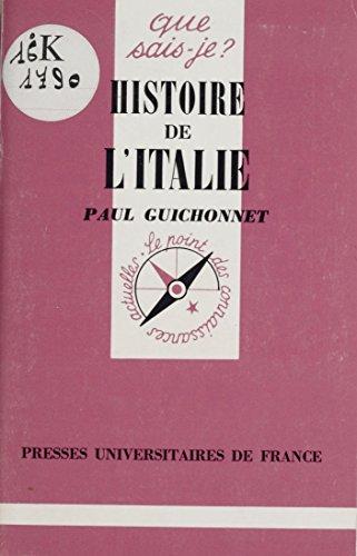 Histoire de l'Italie (Que sais-je ? t. 286) par Paul Guichonnet