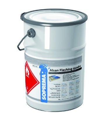 ALSAN Flashing Quadro - 5,0 kg/Gebinde - RAL 7012 basaltgrau - einkomponentiger Polyurethan - Flüssigkunststoff zur absolut sicheren Herstellung von Details und Anschlüssen im Flachdach - erfüllt alle Anforderungen der aktuellen Flachdachrichtlinie 2016 - Anwenderfreundlich, einfach und schnell zu verarbeiten - Verbrauch: ca. 3kg/m2 | Anwendungsfertiges Produkt, kein Mischen erforderlich - zügige Verarbeitung:1.Material vorlegen,2.Vlies einarbeiten *separat erhältlich 3.nass in nass überarbeiten Test