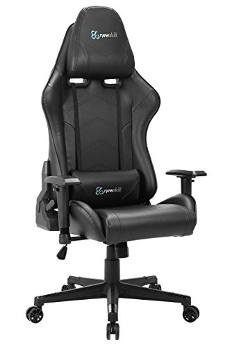 Newskill Kitsune - Silla Gaming Profesional (Inclinación y Altura Regulable, reposabrazos 2D Ajustables, Base en Nylon, reclinable 180º), Color Negra