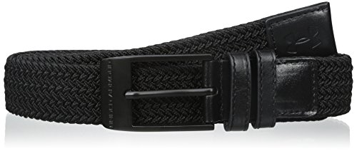 (2017 Under Armour Braided Mens Stretch-fit Woven Golf Webbing Belt Black 32)