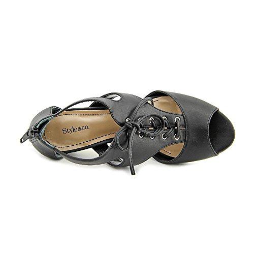 Style & Co Parrah Synthetik Sandale Black