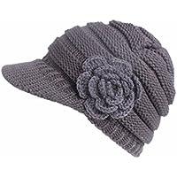 e5757bb59b51e Invierno Beanie gato gorro de punto caliente cozy Mujeres grande Sombrero  Moda Diseño de lana Tejer