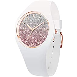 Ice-Watch - Ice lo White Pink - Montre Blanche pour Femme avec Bracelet en Silicone - 013427 (Small)