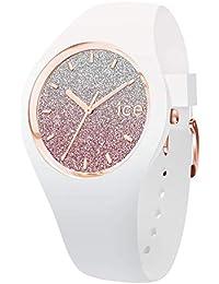 Ice-Watch - ICE lo White pink - Montre blanche pour femme avec bracelet en silicone - 013431 (Medium)