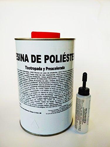 KIT RESINA DE POLIESTER 1 Kgr + 1m2 Manta de FIBRA DE VIDRIO
