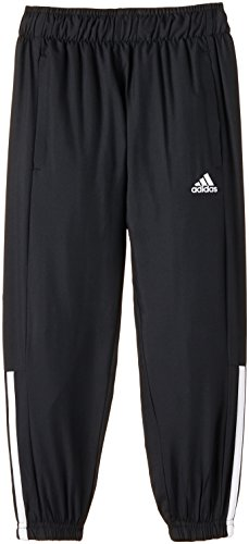 adidas Kinder Sporthose Essentials Woven YB, Schwarz/Weiß, 128, 714689736 (Pants Knit Adidas Mesh)