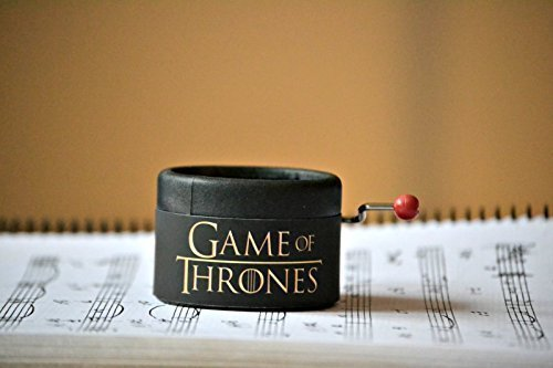 Piccolo carillon manovella decorato in nero con la melodia di * Game of Thrones * GOT. Un regalo ideale per i fan della famosa serie. Il Trono di Spade