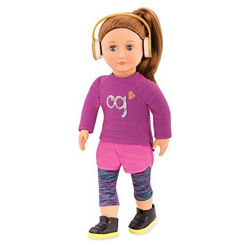 Our Generation BD31162Z Doll with Sporty Outfit, Alicia Spielzeugpuppe, 8