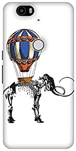 The Racoon Grip Mammoth Travels hard plastic printed back case / cover for Huawei Nexus 6P