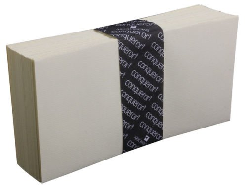 50Conqueror enveloppes DL Crème Laid (sans fenêtre)