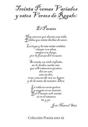 Treinta Poemas Variados Y Estos Versos De Regalo por Jose Manuel Saiz