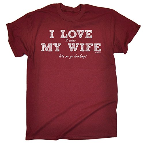 123t Men's - I LOVE IT WHEN MY WIFE LETS ME GO DRINKING - Loose Fit T-shirt