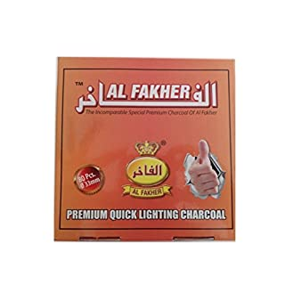 Dics Charcoal AL-FAKHER Quick Lighting Shisha Hookah Roll Coal Disc Briquet For Shisha khalil Mamoon (8 Roll (Full box ))