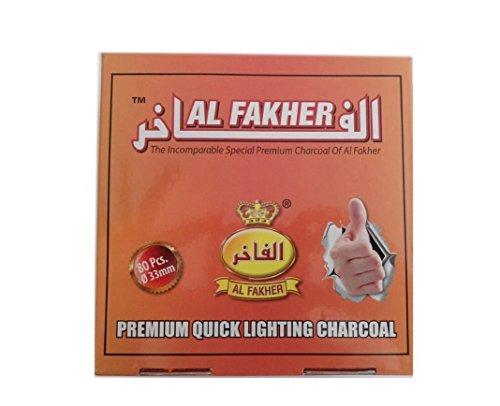 Dics Charcoal AL-FAKHER Quick Lighting Shisha Hookah Roll Coal Disc Briquet For Shisha khalil Mamoon (8 Roll (Full box ))