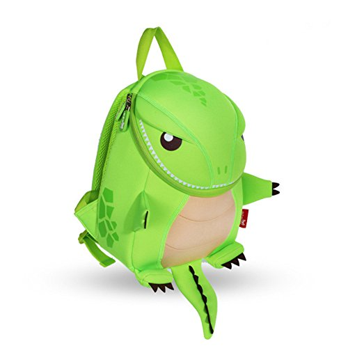 GreenForest Kinderrucksack Dinosaurier Tier Schulrucksack Kinder Schultaschen Niedlich Kindertasche Drache Bestes Geschenk für Jungen 3-8 Jahre Monster (groß, grün)