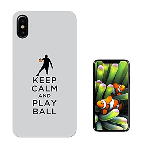 002788 - Keep Calm And Play Ball Football Soccer Design iphone 8 Fashion Trend Silikon Hülle Schutzhülle Schutzcase Gel Silicone Hülle