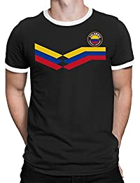 Tee Spirit Colombia Camiseta Para Hombre World Cup 2018 Fútbol New Style Retro