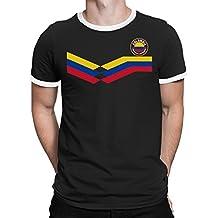 Tee Spirit Colombia Camiseta Para Hombre World Cup 2018 Fútbol New Style Retro