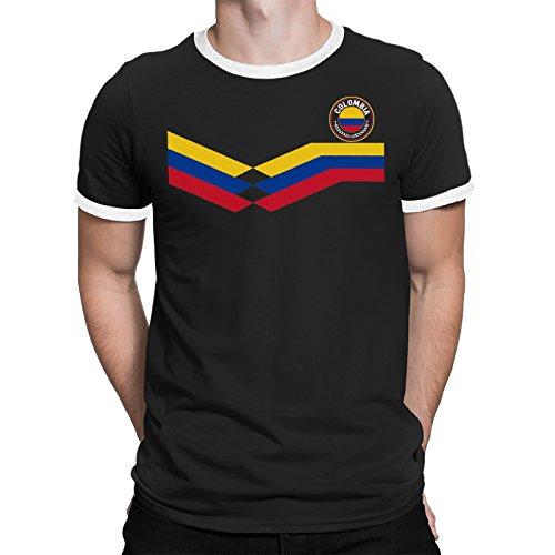 83baabec57 Tee Spirit Colombia Camiseta Para Hombre World Cup 2018 Fútbol New Style  Retro
