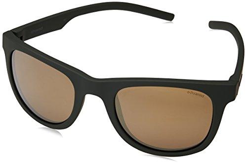 Polaroid Mirrored Wayfarer Unisex Sunglasses - (PLD 7020/S 1ED 52LM|52|Gold Color) image