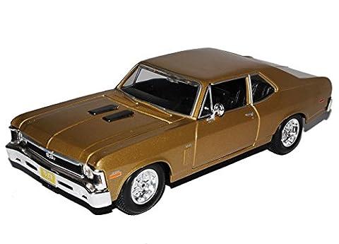 Chevrolet Nova SS Coupe Braun Gold 2. Generation 1968-1979 1/24 Maisto Modell Auto mit individiuellem (1968 Nova)