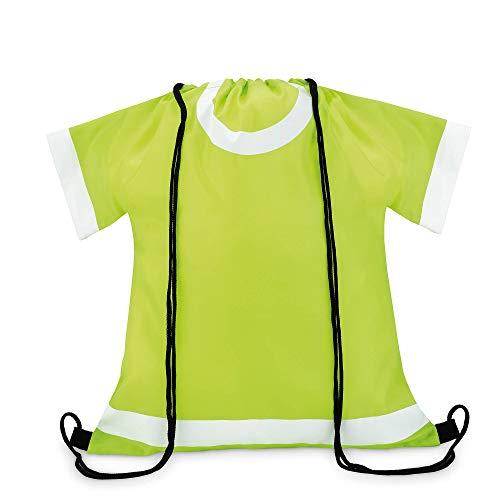 Beutel mit Kordelzug in Optik eines T-Shirts, limette
