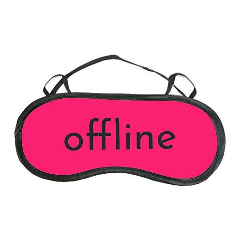 """Schlafmaske\""""offline\""""- blau & pink - für Frauen & Männer - Augenmaske mit Statement - Schlafbrille - Geschenkidee (pink)"""
