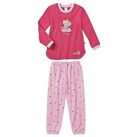Schiesser Mädchen Zweiteiliger Schlafanzug Mädchen Anzug lang, Gr. 92 (Herstellergröße: 092), Rot (pink