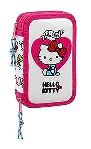Hello Kitty- Sanrio Estuche con 28 Piezas, Multicolor (SAFTA 411816854)