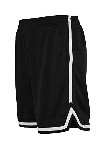 Direkte Mesh Shorts (Urban Classics Stripes Mesh Short in blkblkwht in Größe: M + original Bandana gratis)