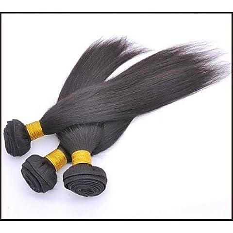 OOFAY JF® 3 PC / porción sin procesar cruda recta brasileña de la armadura remy brasileña del cabello humano natural negro pelo virginal / haces la , natural
