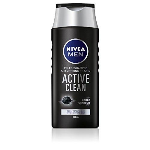 NIVEA Men 4er Pack Haar-Pflegeshampoo für Männer, 4 x 250 ml Flasche, Active Clean