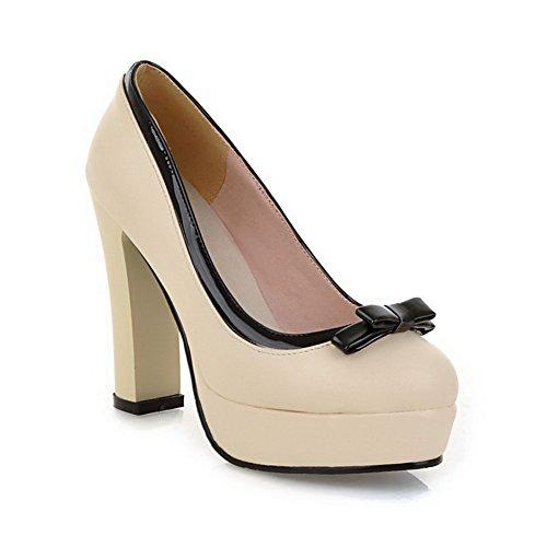 BalaMasa antiscivolo, da donna con tacco alto, materiale morbido pompe-Shoes apricot