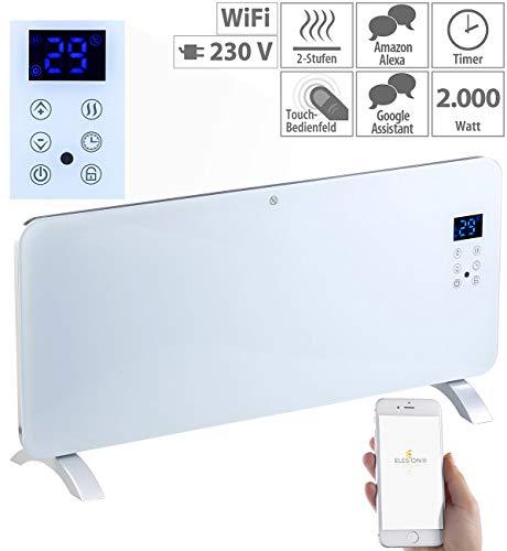 Sichler Haushaltsgeräte Elektro Heizung: Konvektor-Heizung mit App, für Amazon Alexa & Google Assistant, 2000 W (WLAN Heizung)