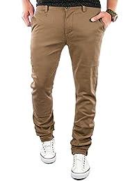 MERISH Pantalon Chino Slim Fit Hommes Droit Business Casual Pantalon Modell J68