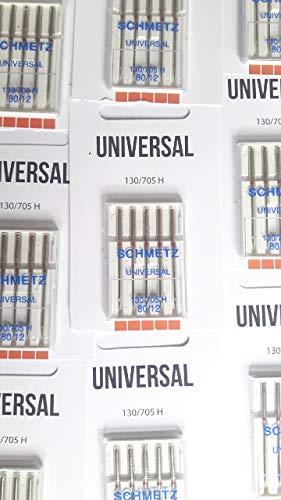 Schmetz 25 Nähmaschinen Nadeln Flachkolben 130/705 - Standard Universal (80)