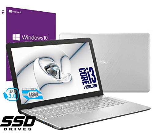 Notebook Asus Vivobook Silver Portatile Pc Display da 15.6' Cpu Intel i3 7th Gen 2,3ghz /Ram 8Gb...