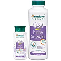 Himalaya BabyCare Baby Powder, 400g with Baby Bath, 100ml