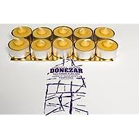 10 Tealight de cera de abejas