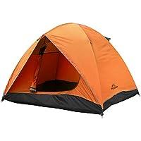 MoKo Tenda da Campeggio per 2-3 Persone, Tenda Cabina Istantanea Impermeabile Antipioggia, per Escursioni, Backpacking, Trekking, Alpinismo, Spiaggia, ECC. - Grigio + Arancione