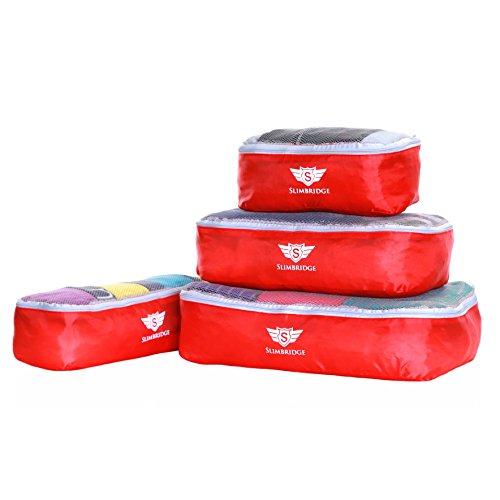 Slimbridge Milan juego de 4 cubos de embalaje, Rojo