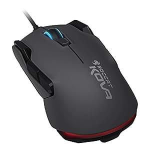 ROCCAT Kova Pure Performance Gaming Maus (7000 dpi, Rechts-/Linkshänder, 12 programmierbare Maustasten) grau/schwarz