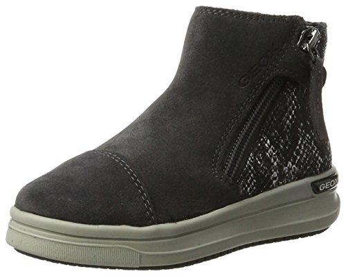 Geox Mädchen J Aveup Girl B Hohe Sneaker, Grau (Dk Grey), 37 EU (Mädchen High-top Wedge Sneakers)