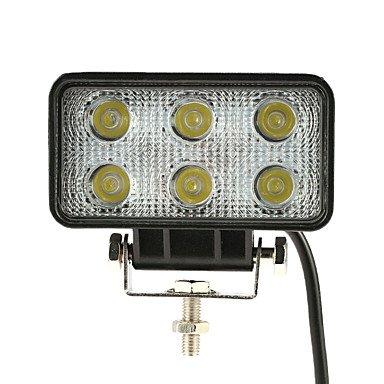 GANTA® Kkmoon 18w conduit voiture lumière barre de lumière 4.3 pouces 1350lm faisceau spot pour jeep offroad atv camion suv 12v 24v