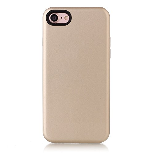 Case Cover IPhone 7, coperchio di protezione solido di colore posteriore dura di plastica per Apple IPhone 7 ( Color : Gray , Size : IPhone 7 ) Gold