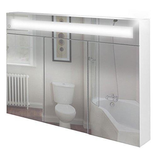 Spiegelschrank Bad weiß - Badspiegelschrank beleuchtet, weiss
