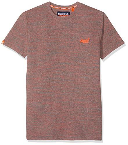 Superdry Herren ORANGE Label Vintage Embroidery S/S Tee T-Shirt, Grau (Coral Grey Space Dye B3i), Small (Herstellergröße: S) - Herren-vintage-tee